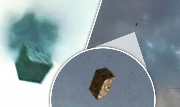 【これは何?!】アメリカ極秘軍事施設上空に浮かぶ謎のブラックキューブ