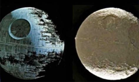【衝撃!】土星第8番目の巨大衛星イアペトスは宇宙人のデススター