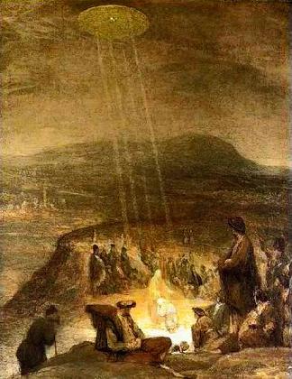 イエス・キリストの古代壁画に描かれた謎の飛行物体