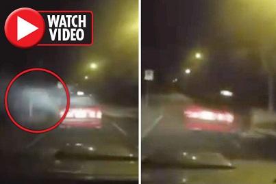 【衝撃映像】悪魔の攻撃?!突然白い靄に襲われるタクシー