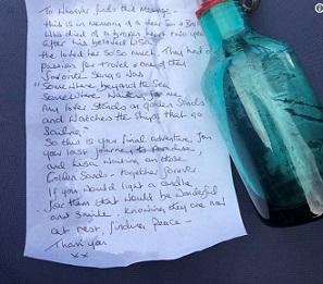 海を漂う瓶に込められていた謎の悲しいメッセージとは