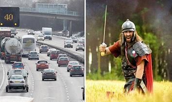 イギリスの高速道路M6号線の恐怖:古代ローマ人兵士の呪い?!