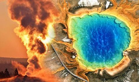 スーパーボルケーノ(超巨大火山)のイエローストーン噴火間近?!1400回の地震 活動を観測