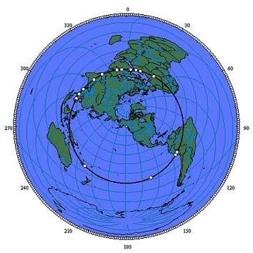 古代遺跡の場所を地球儀に記し繋げると、衝撃の事実が発覚する!