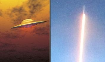 アメリカ上空で確認されたミサイルのような謎の飛行物体。一体これは何?!