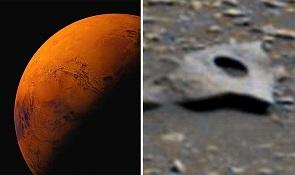 エイリアン存在の証拠か?火星で人工物が発見される